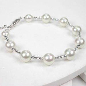 Pulsera de perlas Orquidea