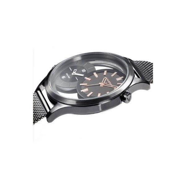 Reloj Viceroy De Hombre Dual Time 471281-57 Malla Milanesa