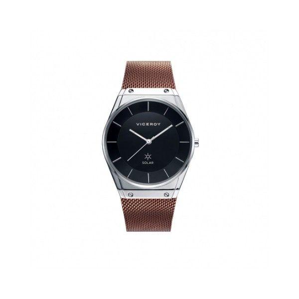 Reloj Viceroy De Hombre 42321-57 Solar/ Ip Marrón